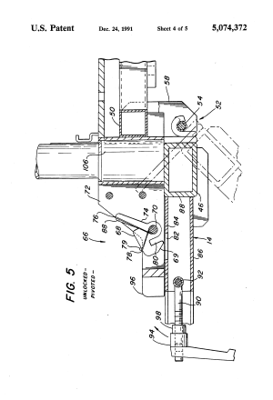 Patent US5074372  Knock down motorized threewheeled