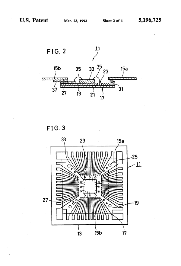 Patent US5196725 - High pin count and multi-layer wiring ...