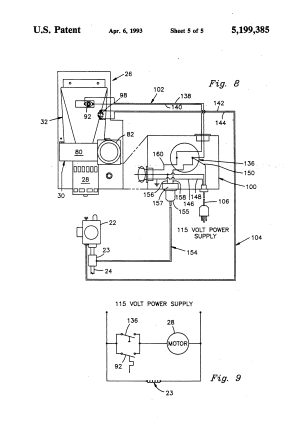 Patent US5199385  Through the wall vented water heater