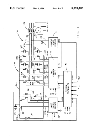 Patent US5291106  Single current regulator for controlled