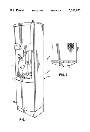 Patent US5316673  Spout assembly for selfservice purified water dispenser  Google Patents