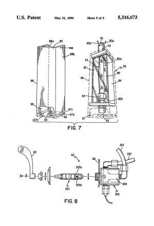 Patent US5316673  Spout assembly for selfservice