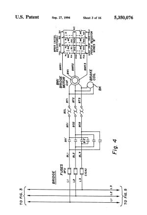 Patent US5350076  Bridge crane electric motor control