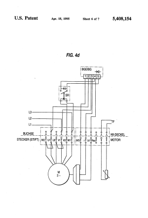 Patent US5408154  Motor connection block, particularly