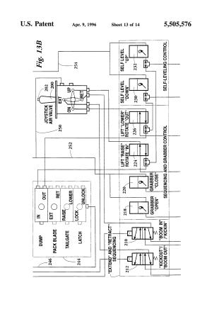 Patent US5505576  Side loader for curbside refuse