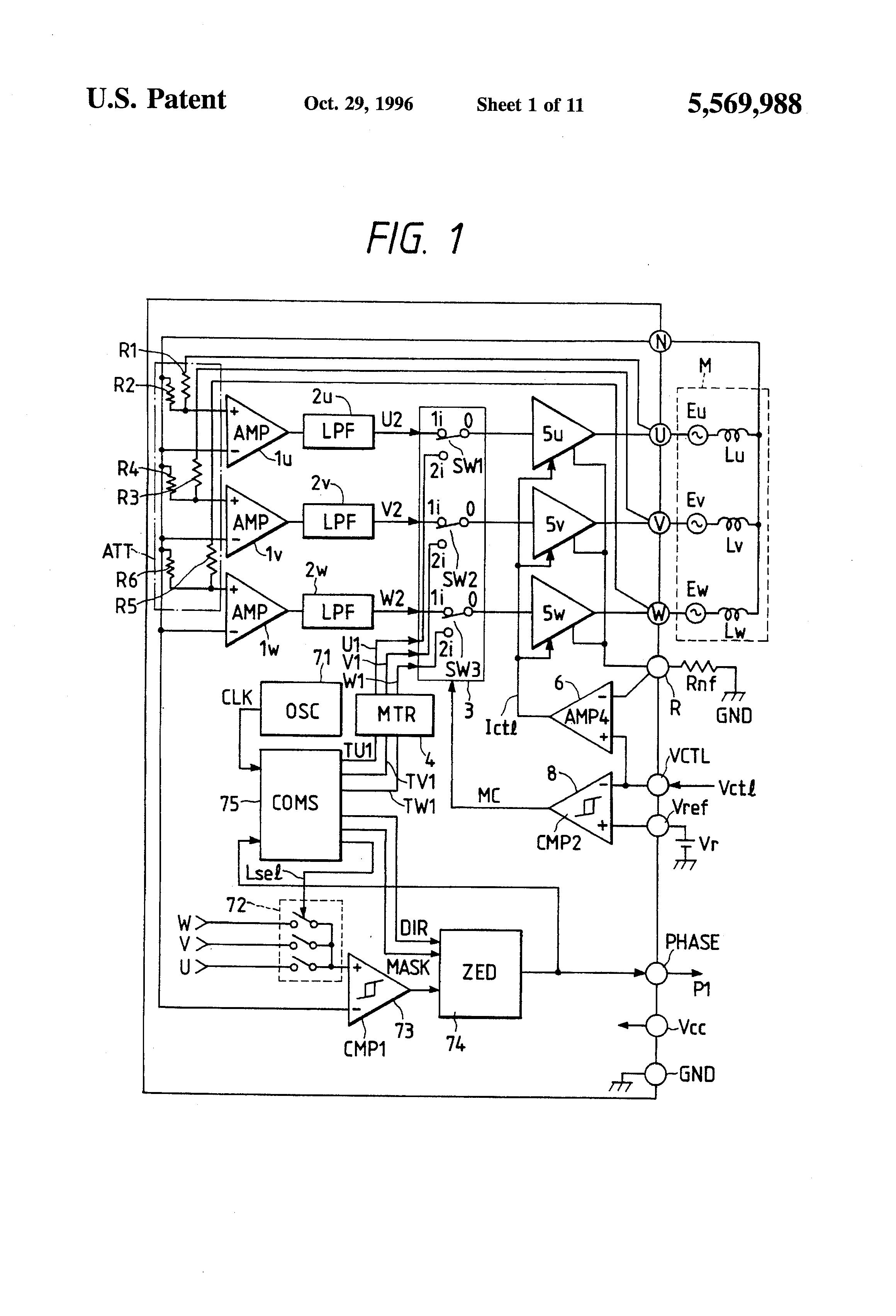 Brushless Motor Driving Circuit