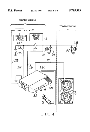 Patent US5785393  Electronic trailer brake controller with pendulum zero adjust  Google Patents