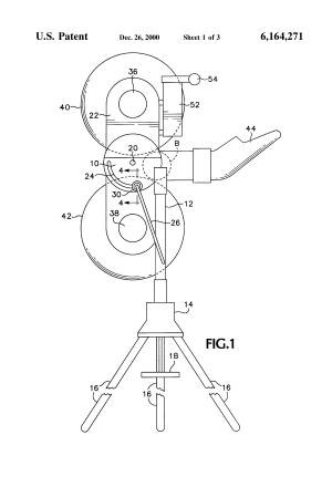 Patent US6164271  Ball throwing machine and electrical