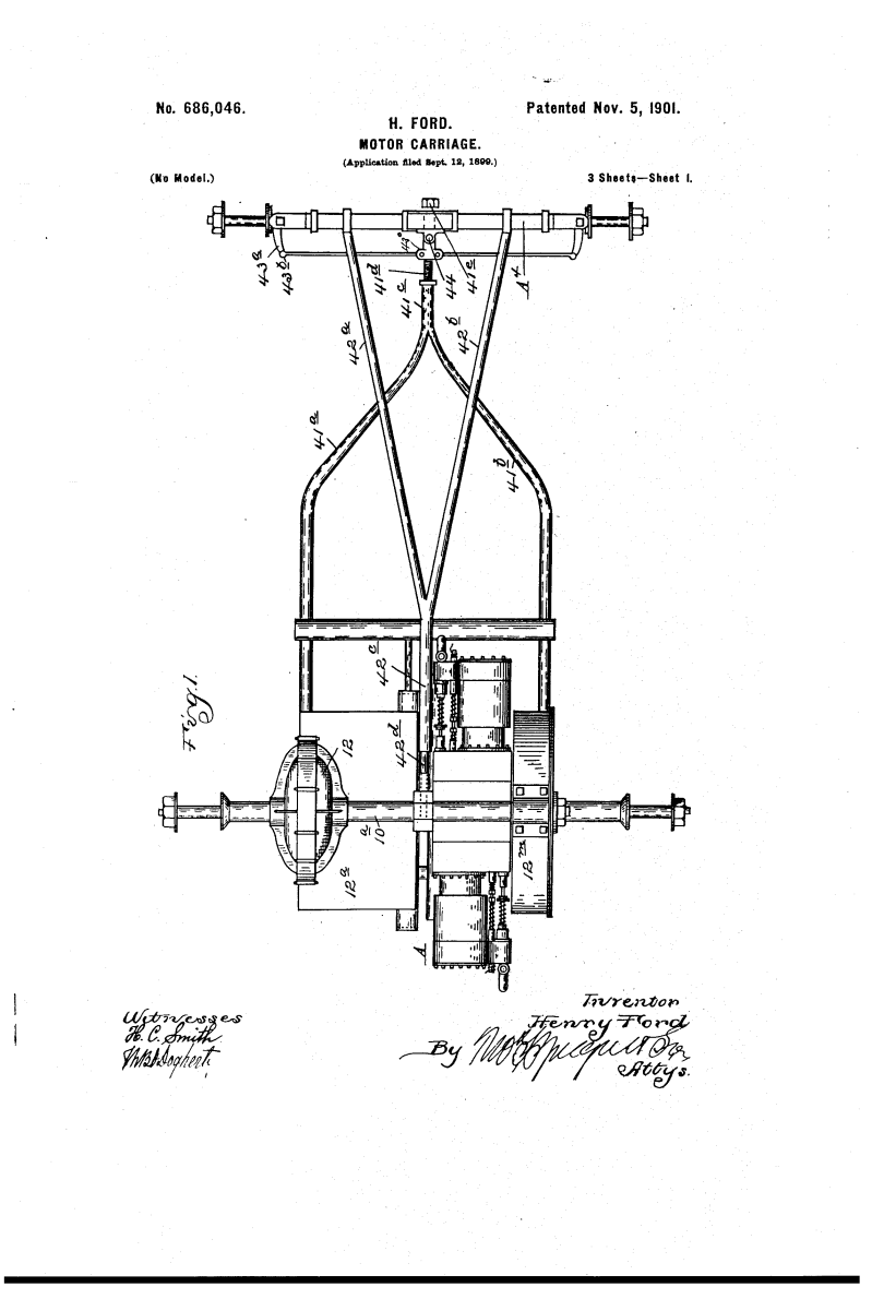 Henry Ford Random Patents #5 Motor Carriage