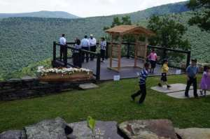 Chuppah at top of Chairlift