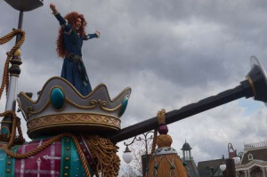 Magic Kingdom Parade - that's Merida who doesn't turn into a bear.