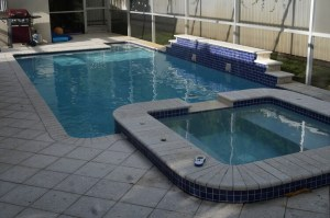 Pool at our house rental in North Miami Beach.