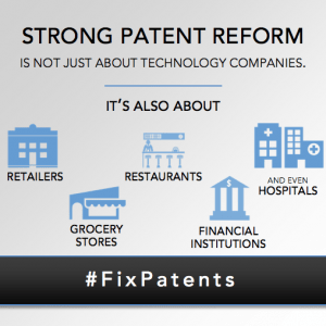 Strong Patent Reform is not just about technology companies