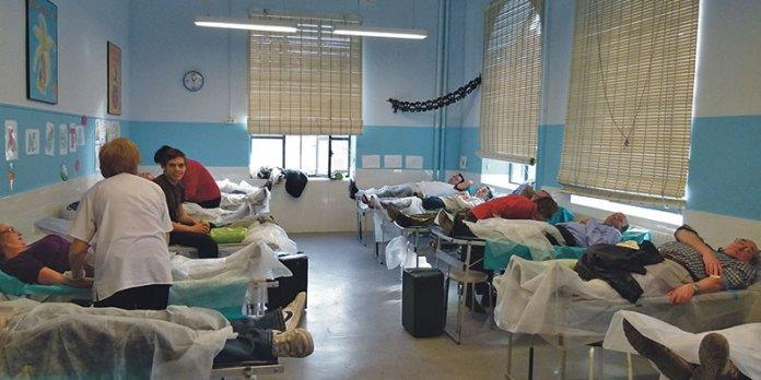 Imagen del maratón de donación de sangre de 2013