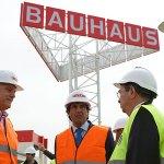 Agustí junto al director general de Bauhaus en España Bart Ginneberge