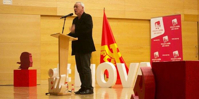 Cayo Lara durante su intervención
