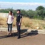 El alcalde, esta mañana recorriendo los puntos negros de inundaciones en Paterna junto con el Jefe de la Policía Local y diversos concejales
