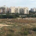 Imagen del barrio de Lloma Llarga tomada desde el pabellón municipal de la Viña del Andaluz