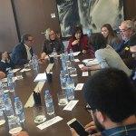 Instante de la reunión a la que ha asistido el concejal Julio Fernández