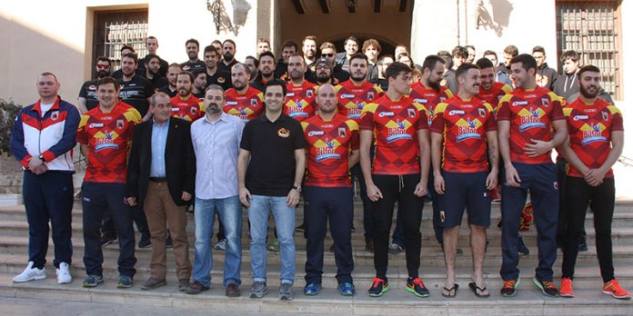 La Selección Española de Rugby League junto al Paterna Dragons