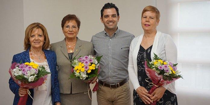 De izquierda a derecha, Isabel Montolio, Paulina Ocón, Juan Antonio Sagredo y Pilar Martínez