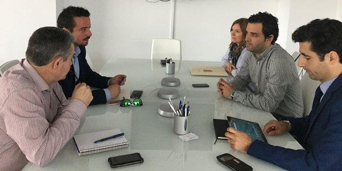 Sagredo y Pérez durante la reunión en FGV