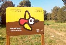 Una de las señales instalada en el acceso al Parque Natural del Túria