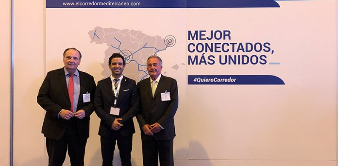 El alcalde de Paterna, Juan Antonio Sagredo, en uno de los actos que reclaman el Corredor Mediterráneo