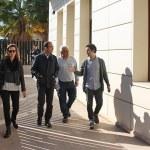 Sagredo y Campos durante su visita al Valentín Hernáez