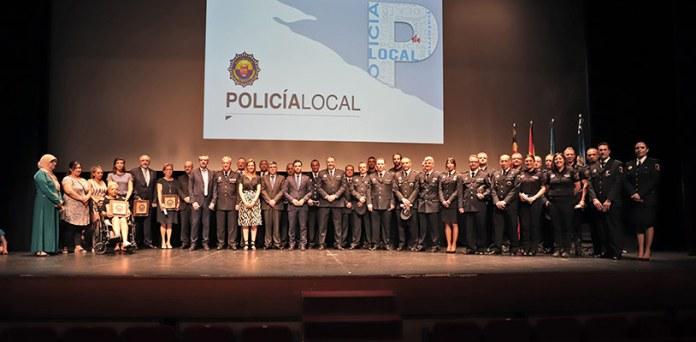 Instante de la celebración del Día de la Policía Local de Paterna