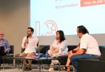 El alcalde, Juan Antonio Sagredo, en un foro de movilidad sostenible