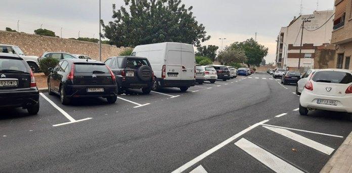 Nueva zona de aparcamiento en Paterna