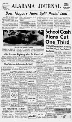 Alabama Journal, nº 41, 17/02/1969, p. 1
