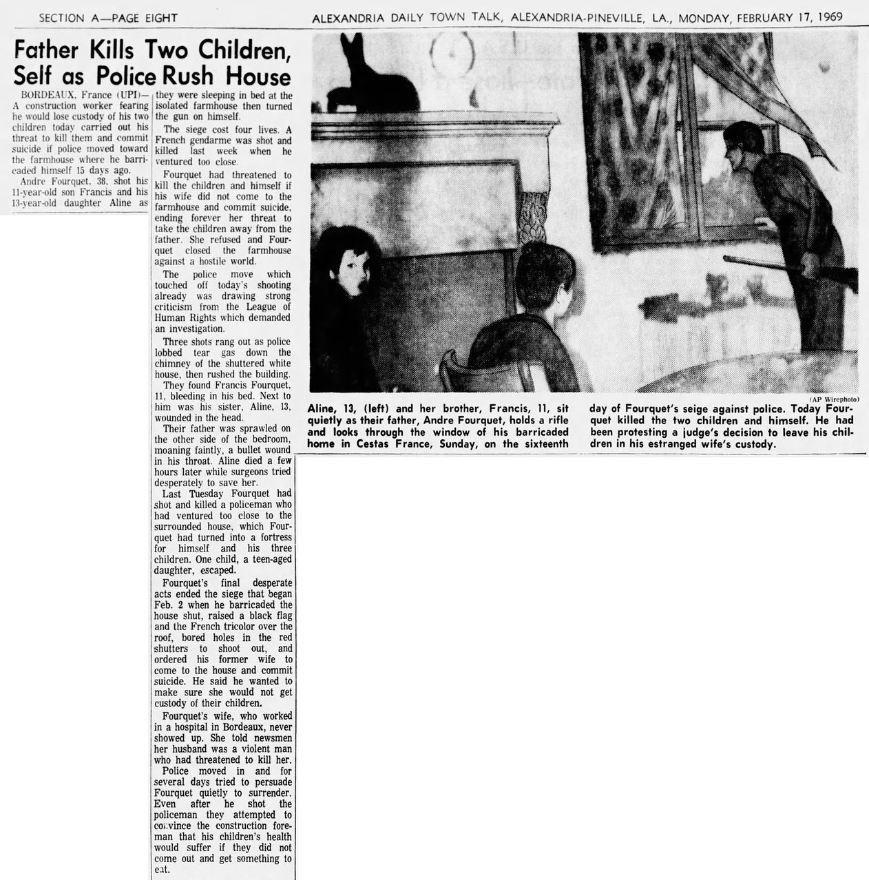 Alexandria Daily Town Talk, vol. 86, nº 337, 17 février 1969, p. A-8