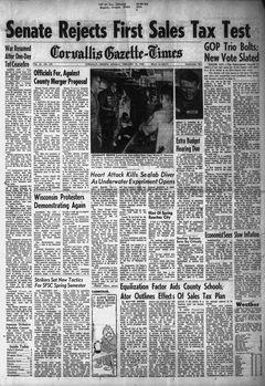 Corvallis Gazette-Times, vol. 61, nº 245, 17/02/1969, p. 1