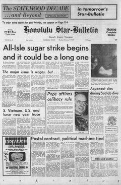 Honolulu Star-Bulletin, vol. 58, nº 48, 17 février 1969, p. 1