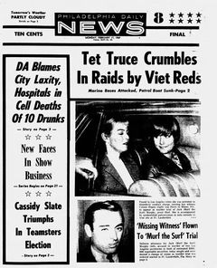 Philadelphia Daily News, vol. XLIV, nº 271, 17 février 1969, p. 1