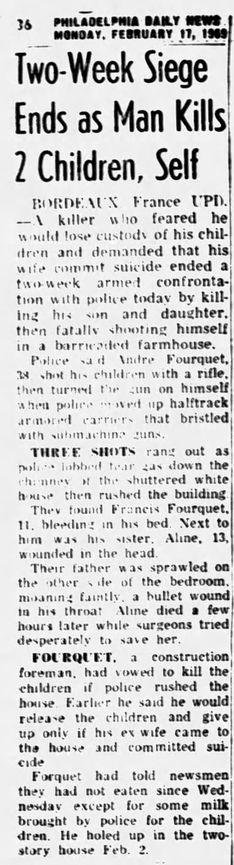 Philadelphia Daily News, vol. XLIV, nº 271, 17 février 1969, p. 36