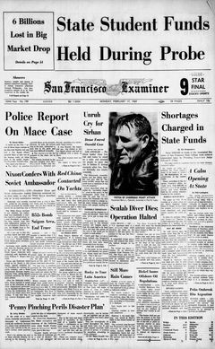 San Francisco Examiner, nº 199, 17/02/1969, p. 1