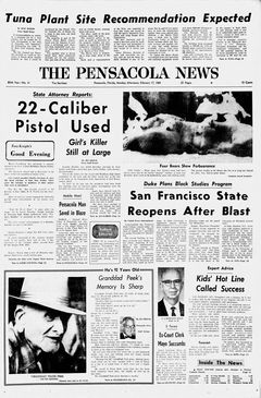 The Pensacola News, nº 41, 17 février 1969, p. 1