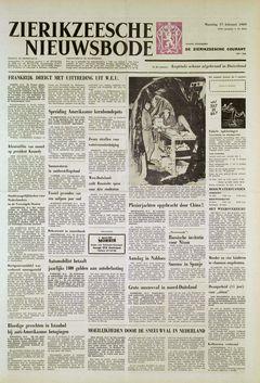 Zierikzeesche Nieuwsbode, nº 20150, 17 février 1969, p. 1