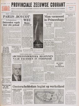 Provinciale Zeeuwse Courant, nº 40, 18 février 1969, p. 1