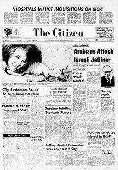 The Citizen, Vol. 13, nº 34, 18/02/1969, p. 1