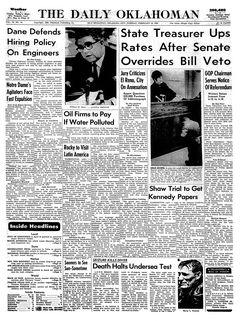 The Daily Oklahoman, Vol. 78, nº 44, 18/02/1969, p. 1