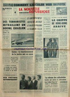 La Nouvelle République du Centre-Ouest, nº 7428, 19/02/1969, p. 1