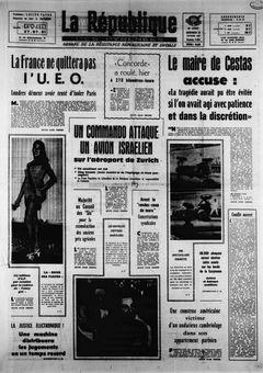 La République des Pyrénées, nº 7454, 19/02/1969, p. 1