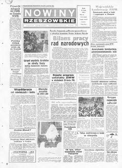 Nowiny Rzeszowskie, nº 42, 19/02/1969, p. 1