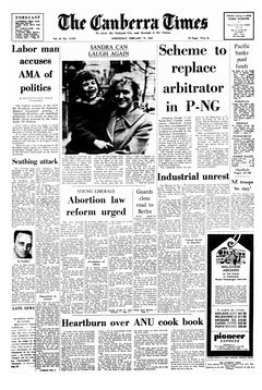 The Canberra Times, vol. 43, nº 12239, 19/02/1969, p. 1