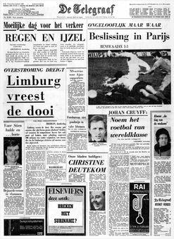 De Telegraaf, nº 25288, 20/02/1969, p. 1