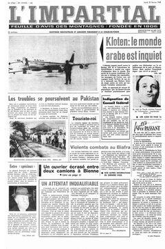 L'Impartial, nº 27962, 20/02/1969, p. 1